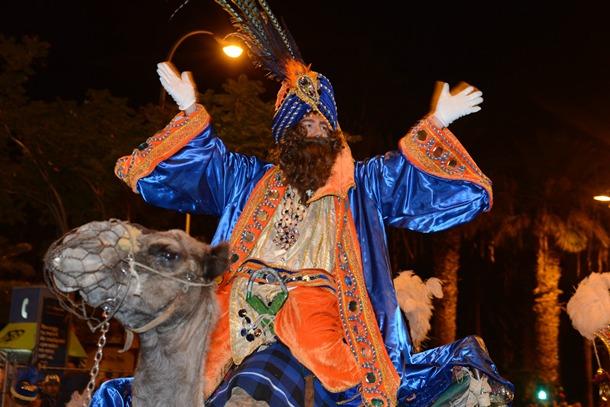 El rey Gaspar durante su visita a Tenerife. | SERGIO MÉNDEZ