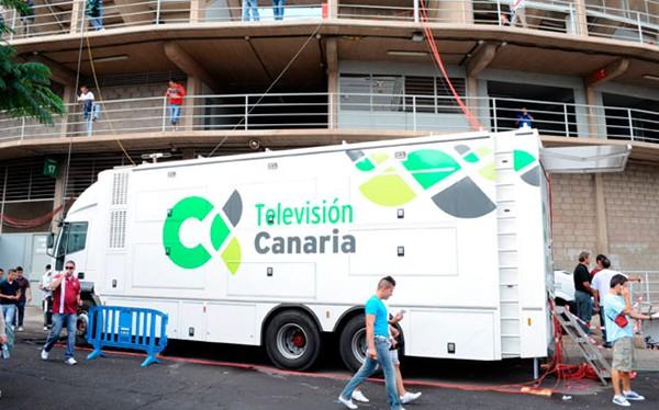 Una unidad móvil de la Radio Televisión Canaria. / DA