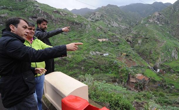 visita Carlos Alonso y Jose Manuel Bermudez Parque Rural de Anaga