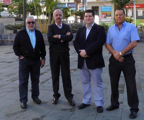 Eduardo Pintado y empresarios comercio Fedeco