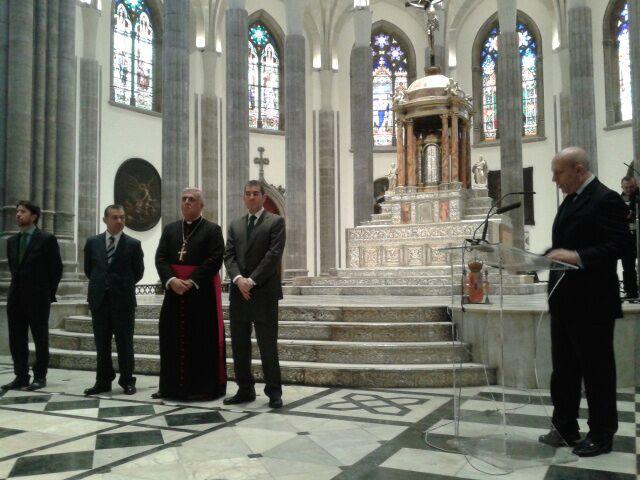 Acto de inauguración de la Catedral. / SERGIO MÉNDEZ