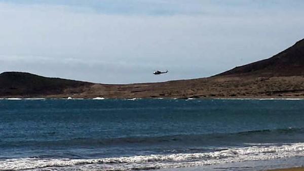 Helicóptero de GES en la zona/ DA