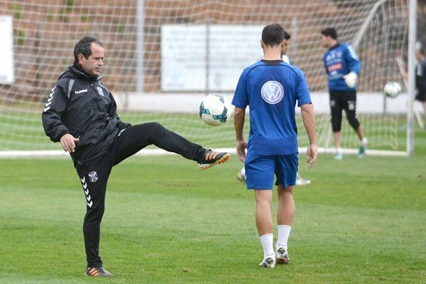 Álvaro Cervera durante un entrenamiento.