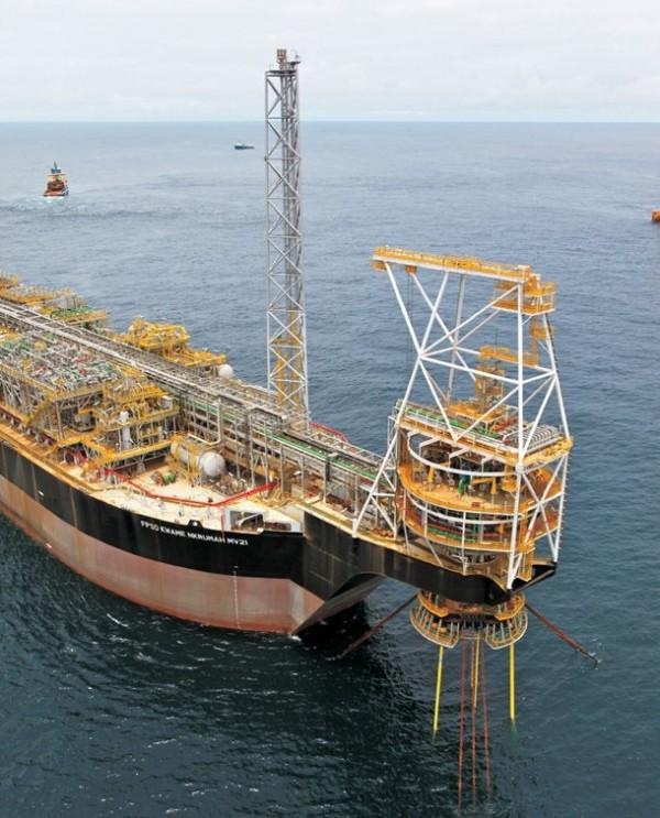 Buque del tipo FSPO prospecciones petrolíferas sondeos petrolíferos