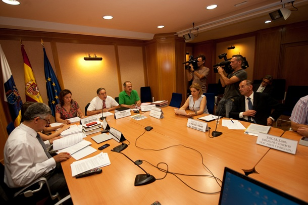 reunión de la Cotmac, presidida por el consejero Domingo Berriel.