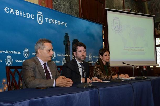 Efraín Medina, Carlos Alonso y Delia Herrera,