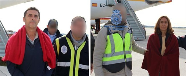 Etarras detenidos en Mexico Juan Jesús Narváez Goñi, alias 'Pajas', e Itziar Alberdi,