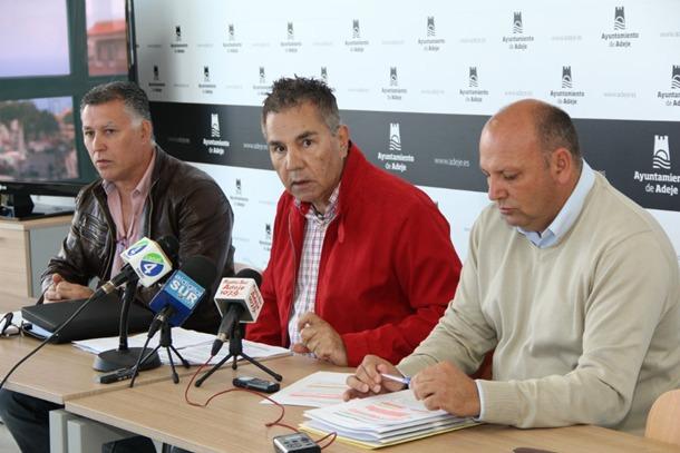 José Miguel Rodríguez Fraga, Adolfo Alonso y Andrés Pérez, Adeje