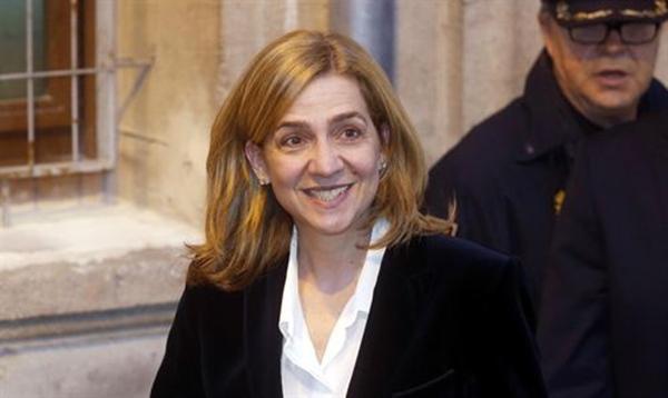 La Infanta Cristina abandona los juzgados de Palma