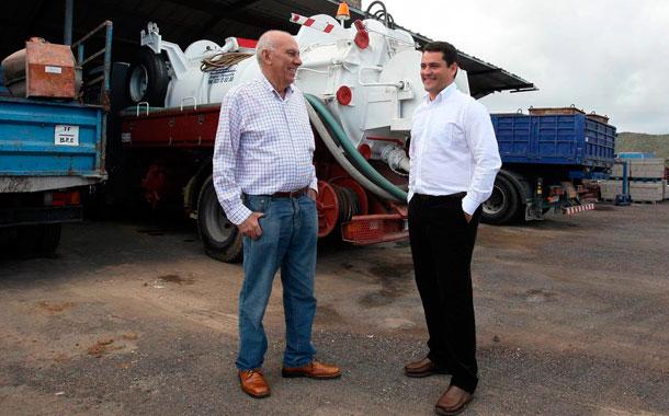Manuel Barrios y José Fuentes