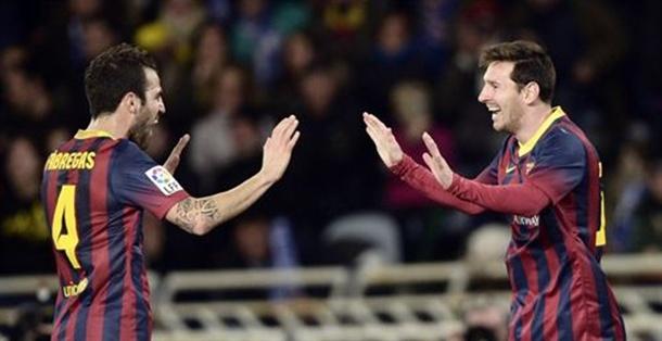 Messi y Fabregas