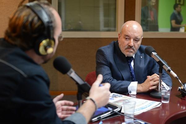 Miguel Concepción durante la entrevista en Teide Radio. | S. M.
