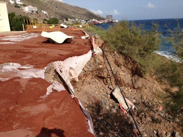 El Parque La Nea ha sufrido graves daños.   DA