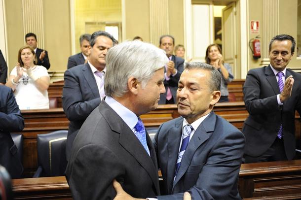 José Miguel Pérez (PSOE) y Paulino Rivero (CC)