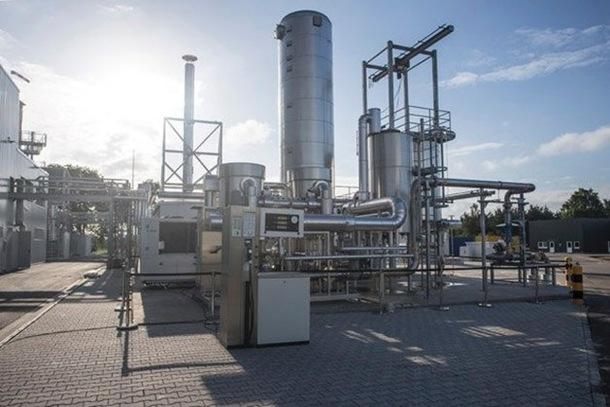 Planta de biogás de la compañía Audi, en Wertle (Alemania).