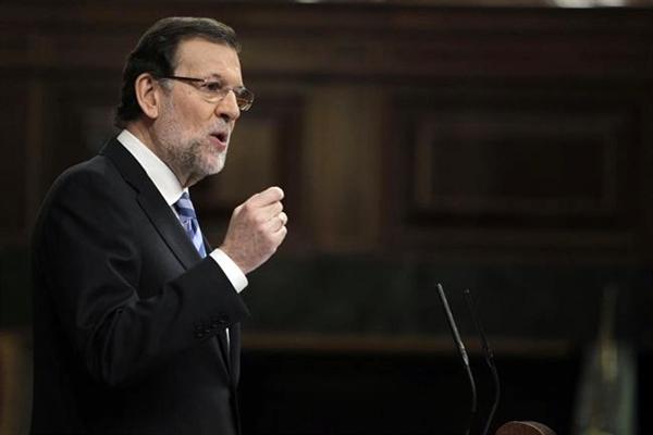 Rajoy, durante su discurso en el Debate de la Nación. | EP