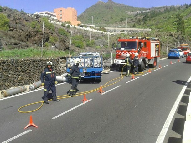 accidente camion bombonas Tamaimo