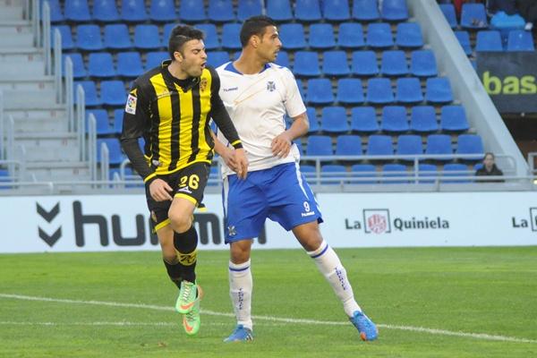 Aridane Santana jugó la segunda parte del choque con el Zaragoza el pasado sábado. | JAVIER GANIVET