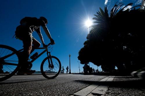 Dia festivo bicicleta ciclista