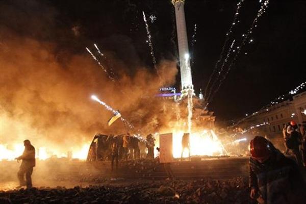 enfrentamientos Ucrania plaza de la Independencia de Kiev