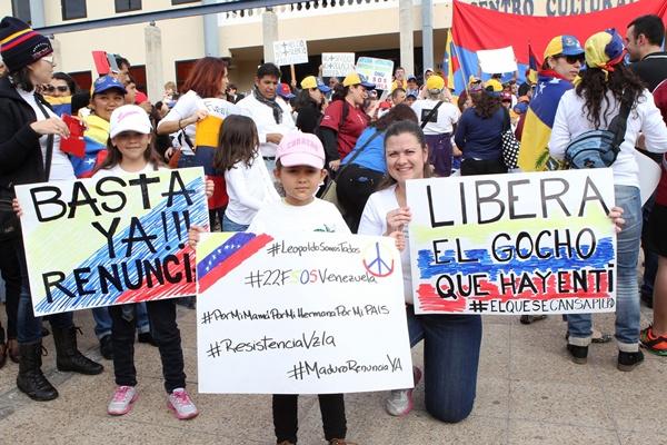 Algunos manifestantes del sábado pasado en el sur de Tenerife. | G. Z.