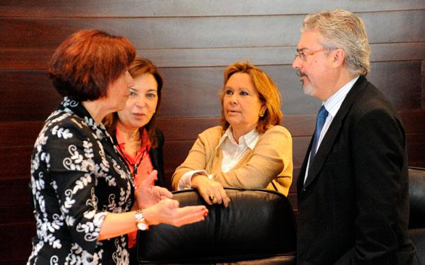 Martín Marrero, Inés Rojas, Brígida Mendoza y Francisca Luengo