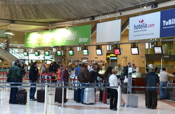 pasajeros aeropuerto Tenerife Norte los rodeos