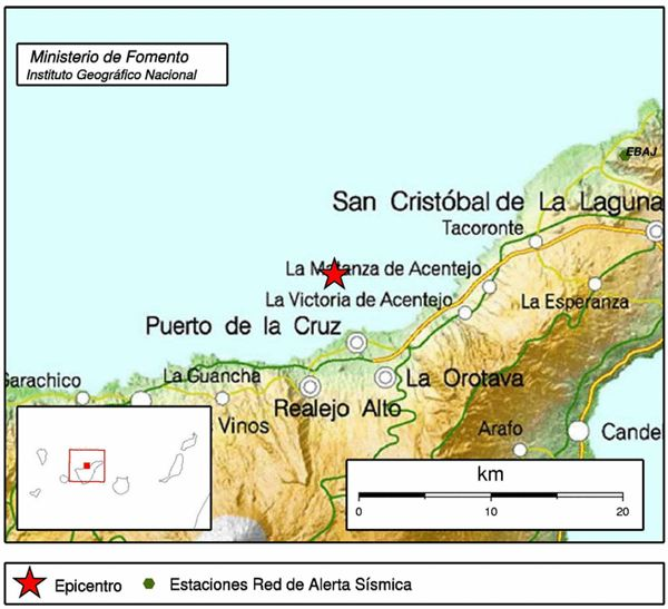 l temblor ha tenido lugar a 28 kilómetros de profundidad
