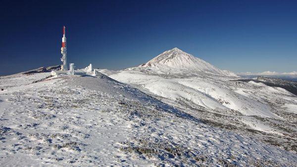 Imagen del Teide el 17 de febrero. / @Rub_dc