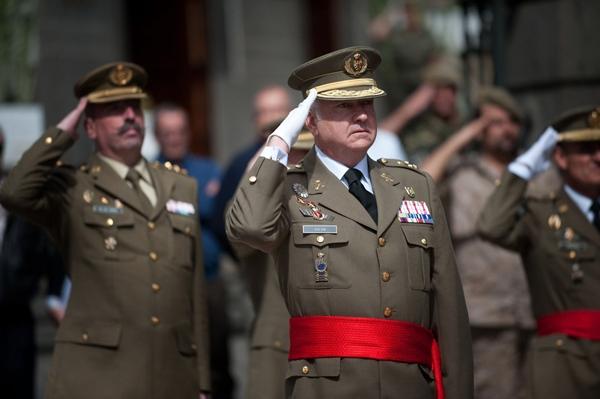 El nuevo jefe del mando canario, Pedro Galán, ayer. | FRAN PALLERO
