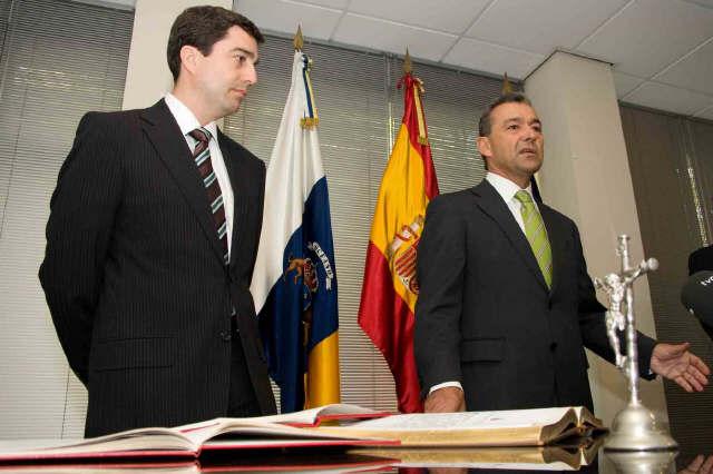 Imagen de archivo de la toma de posesión de Carlos Portugués