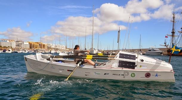 El sueco Peder Åström travesia Atlántico en solitario a remo
