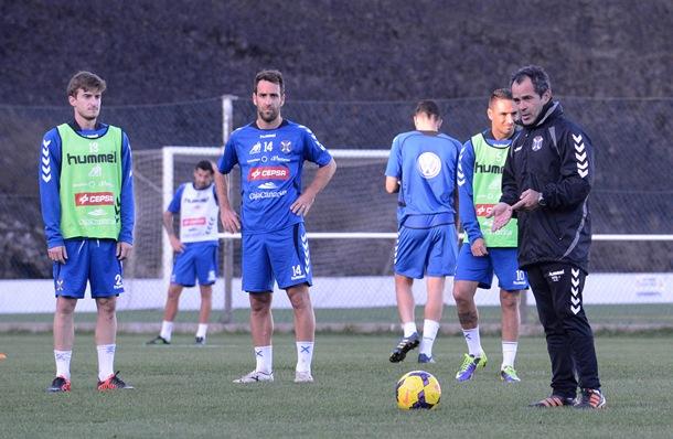 Alvaro Cervera entrenamiento Tenerife