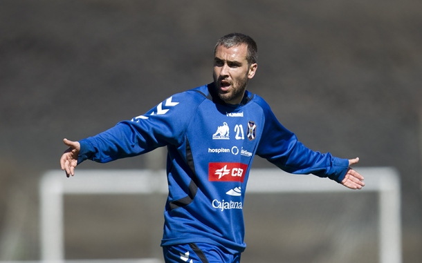 Ayoze Diaz entrenamiento CD Tenerife