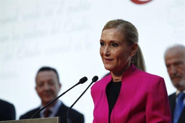 Cristina Cifuentes durante una rueda de prensa. | EP