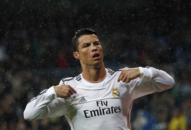 CristianoRonaldo celebra un gol.