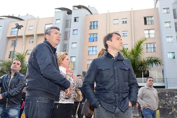 Dámaso Arteaga y José Manuel Bermúdez, durante su visita a San Pío X. | S. MÉNDEZ