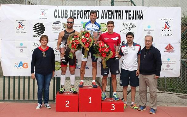 Duatlón de Tejin podio masculino