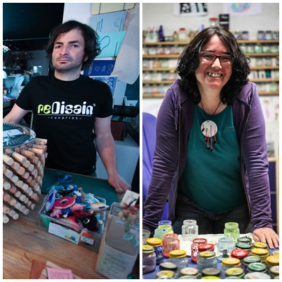 José J. González (diseño y reciclaje) y Esperanza Núñez (esmalte). | DA
