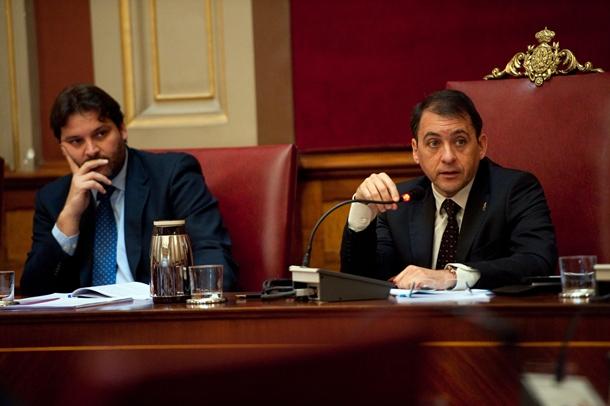 José Ángel Martín (i) y José Manuel Bermúdez