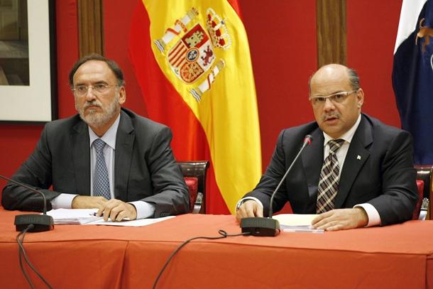José Miguel Barragán CC y Manuel Fajardo PSOE