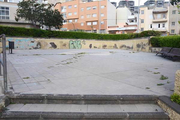 La plaza de la calle Amagar, una de las reformas que se acometerá . | DA