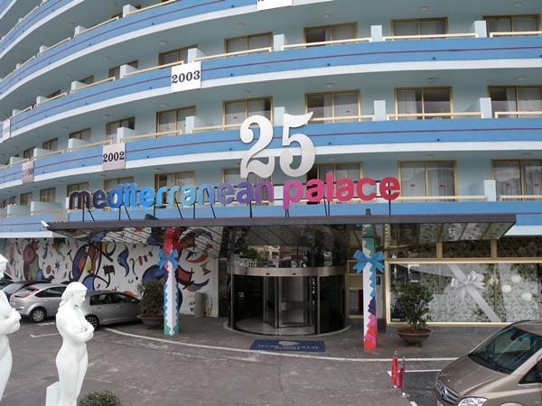 El hotel Mediterranean Palace, que ha cumplido 25 años desde su construcción, cuenta con 500 habitaciones. | J.L.C.