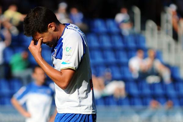 Pablo Sicilia refleja el rostro de la impotencia tras una derrota en el Heliodoro en la liga 10-11.   SERGIO MÉNDEZ
