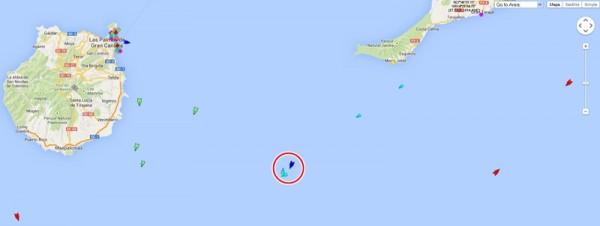 El círculo rojo indica la zona del accidente, donde se encuentran los servicios de rescate. | DA