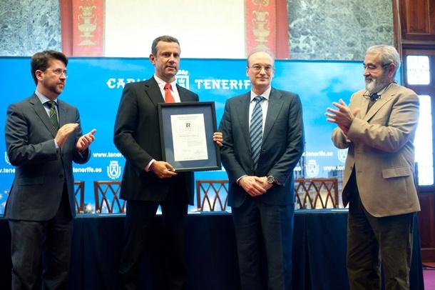 entrega certificado accesibilidad Tranvía Tenerife