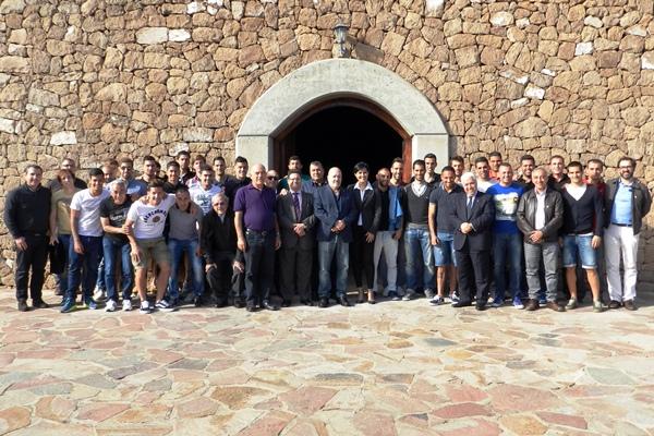 Jugadores y directiva del CD Tenerife en el almuerzo/ DA