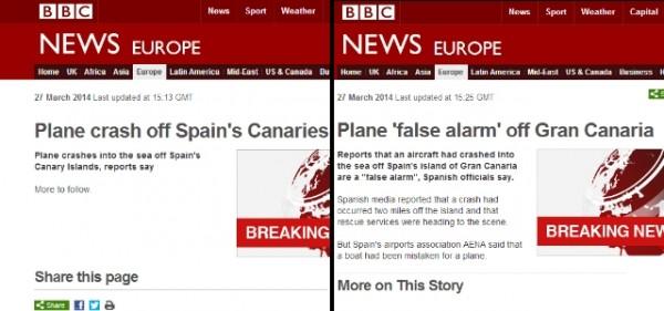 bbc tuit avión