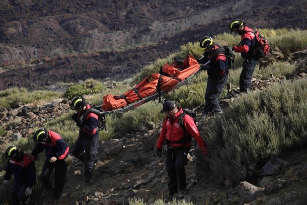 rescate bomberos en El Teide