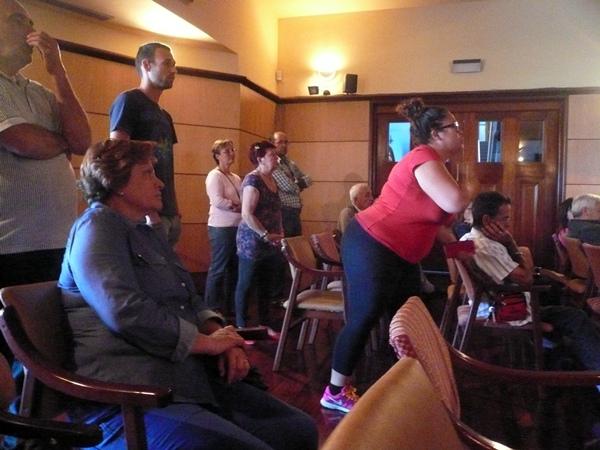 Carmen Corpas, vecina de Antón Guanche, fue una de las que intervino en el Pleno. / NORCHI
